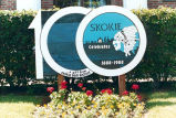 Skokie Centennial Celebration Sign Photograph, 1988