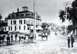 Market Days in Niles Center Photograph, late 1800s