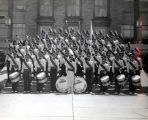 American Legion Post 320 Drum & Bugle Corps on Memorial Day Photograph, 1955