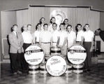 American Legion Post 320 Drum & Bugle Corps Drum Section Photograph, 1956