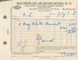 Niles Center Coal and Building Material Company Invoice, 1948