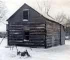 Historic Log Cabin Photograph, 1970s