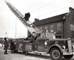 Skokie Fire Department Hamlin Avenue Station and Truck Photograph, circa 1960