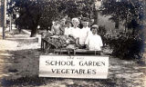 School Garden Club Group Postcard, 1917