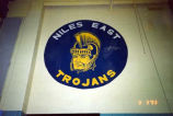 "Niles East High School ""Trojan"" Mascot Wall Painting Photograph, 1993"