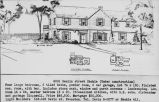 Real estate listing postcard for large house at 9349 Hamlin St.
