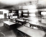 Niles Center Recreation Rooms Interior with Pool Tables Photograph, 1926