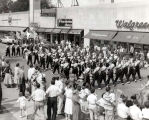 American Legion Post 320 Drum & Bugle Corps on Armed Forces Day Photograph, 1950s