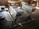 School desks, double-seated