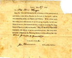 Hayes Misc. Document 18470527, Election for Randolph County Seat