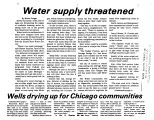 Water supply threatened