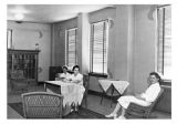 Students lounge in the Solarium, 1940s