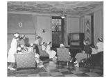 St. John's School of Nursing students in lounge with television
