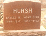 Bayliss Family, Sterling, Illinois, Tombstone, Samuel & Alice Hursh, Macomb, IL