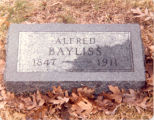Bayliss Family, Sterling, Illinois, Tombstone of Bayliss, Alfred