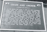 "Civil War, Sterling, Illinois, Plaque: ""Chain and Anchor"""