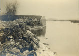 Ice Gorge, Sterling, Illinois, Rock River, Ave. G. Bridge gone