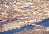 Aerial Photo, Sterling,  Illinois,  Rock River