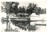 Mineral Springs, Sterling,  Illinois, Boat on Lagoon at Great Northwestern Fairgrounds