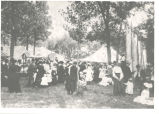 Mineral Springs, Sterling,  Illinois, Tent city at Great Northwestern Fairgrounds, Spectators