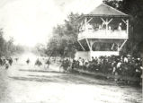 Mineral Springs, Sterling,  Illinois, Horse racing, Judges stand, Spectators at Great Northwestern...