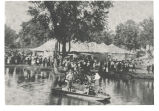 Mineral Springs, Sterling,  Illinois, Great Northwestern Fairgrounds, Boat and fairgoers