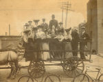People-Groups, Sterling, Illinois, John Dillon, Young People on wagon
