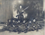 Zouaves, Lady, Sterling, Illinois, Clubs, Drill Team, Uniforms, Arms & armament