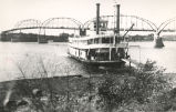 Rock River, Sterling, Illinois, Paddlewheel boat ran from Fulton to Quad Cities on Mississippi...