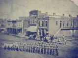 Sterling, Illinois Street scene, Soldiers