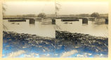 Sterling, Illinois Stereoptican Scenes, Floods, Ice Gorge, Ave. G. Bridge