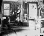Photograph the interior of the Stretch home, ca 1910