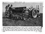 Newspaper photograph of the Seeding of Hemp as a War Crop during WWII