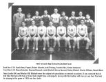 Photograph with listing of 1935 Towanda, Illinois High School basketball team