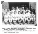 Photograph of the 1944 Towanda Illinois High School baseball team.