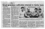 Newspaper article about the Timothy Kraft family farm