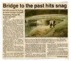 Newspaper article on NCHS students saving bridge honoring Route 66