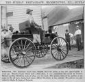 1938 Newspaper photograph of 1903 Homemade Steam Auto