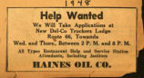 Advertisement of Haines Oil Co.