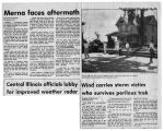 Newspaper article on 1982 Merna tornado