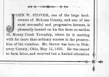 1885 Biography of John W. Stover, early settler