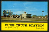 1960 Picture postcard of Pure Truck Station