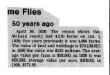 Newspaper article on McLean County farms in 1936