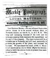 Newspaper article on Towanda Station House in 1857
