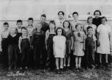 Photograph of Ballard School students in 1936