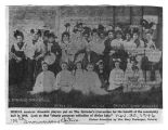 Newspaper Photograph of Merna Spinster's Convention in 1908
