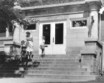 Carnegie Library of Wilmette front steps.
