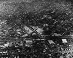 Aerial view downtown Wilmette, 1924