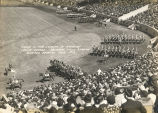 "Troop ""A,"" 14th Cavalry in American Legion Parade.  Soldiers Field Stadium, Chicago..."