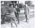 Roosevelt Getting Off the Train